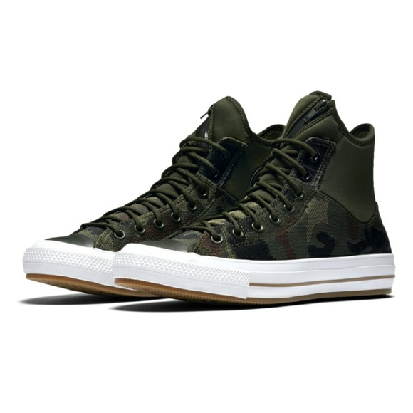 4e321a3cd8108d NWT Converse Chuck II Army Green Camo Hi Top Shoe